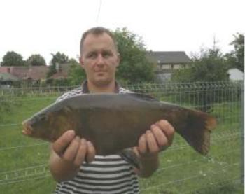 Na rzece Postomi przy Betonce kol. Daniel Kruszelnicki złowił Lina o wadze 2,70 kg i dł 58 cm