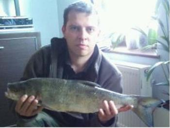 Na rzece Postomi przy Betonówce kol.Marcin Ralko złowił Bolenia o wadze 2,30 kg i dł 54 cm