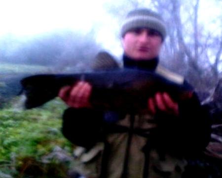 Na rzece Warcie kol. Marcin Krzyżanowski złowił lina o wadze 3.20kg i dł 55cm